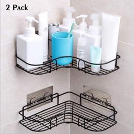 Duschregal Eckregal, Duschorganisator-Lagerung, Duschwanne mit rostfreiem Edelstahl-anhaftendem Aufkleber für die Küche u Badezimmer-Zusatz-anhaftender Aufkleber eingeschlossen - 1