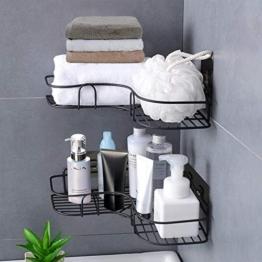 Duschregal,Duschorganisators Aufbewahrung Eckregal mit rostfreiem Edelstahlkleber, Duschwagen für Küchen, Badezimmerregale und Badezimmerzubehör - 1