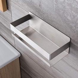 Ruicer Duschkorb Selbstklebender Duschregal Ohne Bohren Duschablage für Badezimmer - 1