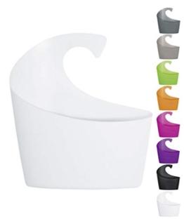 Spirella Duschkorb Sydney mit Haken zum einhängen, kombinierbares Duschregal 25 x 22,5 x 8,5 cm Weiß - 1