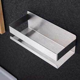 ZUNTO Duschablage Ohne Bohren Duschkorb Selbstklebend Duschregal aus Edelstahl für Badezimmer - 1